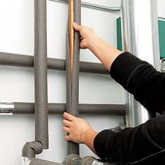 insulate pipes with foam